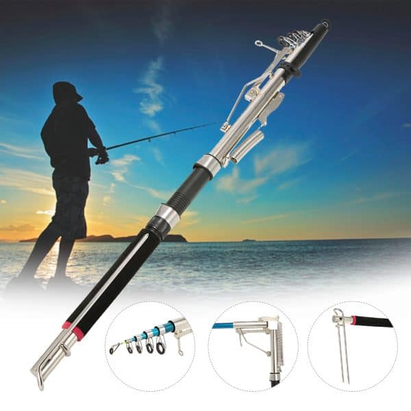 Automatic Telescopic Stainless Steel Fishing Rod